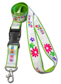 "Dye-Sublimated Full-Color Double-Layered Lanyard - 3/4"" Wide"