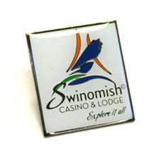 """Etched Lapel Pin (1.00"""")"""