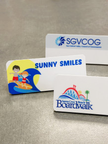 "Name Tags - Full Color Plastic (1-1/4""X3"")"