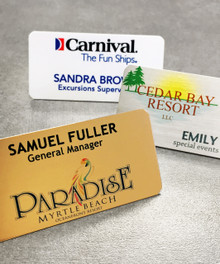 """Name Tags - Full Color Aluminum w/ Personalization (1-1/2""""x3"""")"""