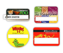 "Full Color Premium Window Nametag (1-1/2""x2-7/8"")"