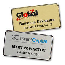 "Name Tags - Executive Metal Frame w/ Personalization (1.5""x3"")"