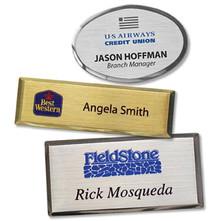 "Name Tags - Executive Metal w/ personalization (1.50""x3"")"