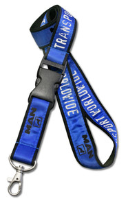 "Screen-Printed Double-Layered Lanyard - 3/4"" Wide"
