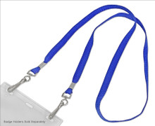 """3/8"""" Wide Flat Mask Lanyard with Open-Ended Hooks"""
