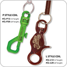 Casino Coiled Lanyards - P style - 12""