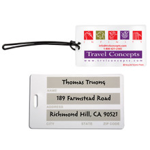 Recycled Standard Size Write-On Surface Luggage Tag
