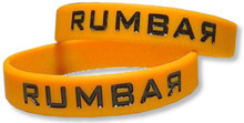 Debossed w/ Color Fill-In Silicone Wristband
