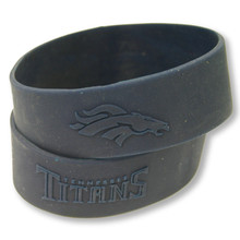 "1"" Embossed Custom Silicone Wristbands"