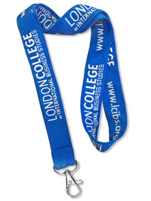 "Extra Wide 1"" Double-Sided Woven-In Custom Lanyard (Embroidered)"