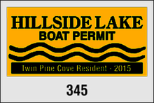 "Parking Permit Window Decals - 3.00"" x 2.00"""