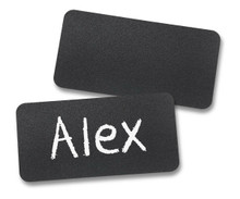 "Chalkboard Reusable Name Tags (1-1/2""X3"")"