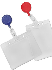 Vinyl Badge Holders & Badge Reel Combo Set