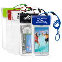 Waterproof Cell Phone & Accessories Carry Case with Lanyard, Printed