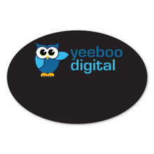 "Oval Chalkboard Full Color Name Tags  - 2""X3"""