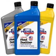 32 oz. Liquid Refill Hand Sanitizer (min. 3 cases: 6 bottles per case)
