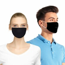 Standard Flat Cotton Face Mask with Pocket for Filter Insert - Blank