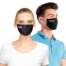 Standard Flat Cotton Face Mask with Pocket for Filter Insert w/ Logo Print