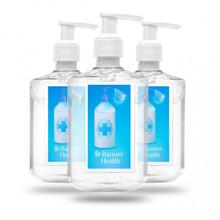 Custom Label Hand Gel Sanitizer - 8 oz. Pump Bottle