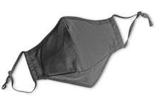 Cotton Fitted Face Mask with Filter Pocket & Adjustable Ear Loops, No Print