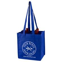 "4 Bottle Wine Tote Bag - 10 "" H x 11"" W x 7"" G"