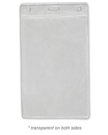 """5.75"""" x 3.75"""" Vertical Badge Holder with Slot"""