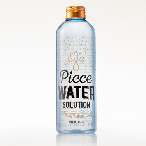 Piece Water Solution Bong Water Replacement (Front Shot 12 Oz Bottle)