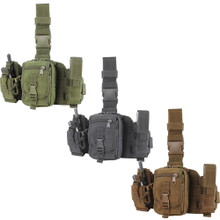 Condor MA25 Utility Leg Rig Drop Down Thigh MOLLE Platform 3 Pouches- OD Green/ Black/ Coyote Brown