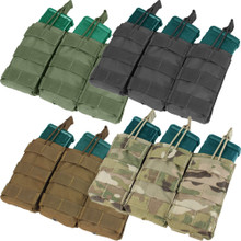 Condor MA27 Triple Open Top .223 or 5.56mm Magazine Pouch- OD Green/ Black/ Coyote Brown/ MultiCam