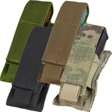 Condor MA32 Single Pistol Mag Pouch MOLLE Magazine Sheath Holster- OD Green/ Black/ Coyote Brown/ MuliCam
