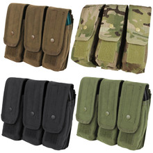 Condor MA33 MOLLE 7.62 mm / 5.62 mm Triple Rifle Magazine Pouch- OD Green/ Black/ Coyote Brown/ MultiCam