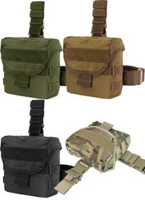 Condor MA38 Tactical Nylon Drop Leg Mag Magazine Dump Pouch- OD Green/ Black/ Coyote Brown/ MultiCam
