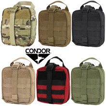 Condor MA41 Molle Tactical Rip-Away EMT Pouch- OD Green/ Black/ Red/ Coyote Brown/  MultiCam