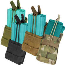 Condor MA42 Open Top Stacker Mag Pouch 2x 5.56 .223 Rifle Magazine- OD Green/ Black/ Coyote Brown/ MultiCam