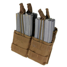 Condor MA43 Double Stacker .223 or 5.56mm Magazine Pouch- OD Green/ Black/ Tan/ Coyote Brown