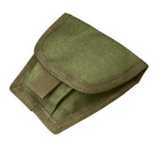 Condor MA47 Double Handcuff Pouch Tactical MOLLE Belt Cuff Holster- OD Green/ Black/ Tan