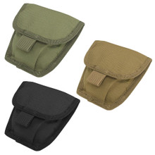 Condor MA47 Double Handcuff Pouch Tactical MOLLE Belt Cuff Holster- OD Green/ Black/ Navy Blue/ Coyote Brown