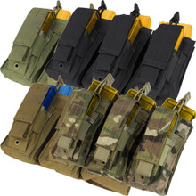 Condor MA55 Triple Kangaroo .223 or 5.56mm & Pistol Magazine Pouch- OD Green/ Black/ Coyote Brown/ MultiCam