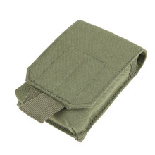 Condor MA73 Molle Tactical Tech Sheath Pouch for Phone Camera GPS- OD Green/ Black/ Tan