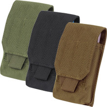 Condor MA73 Molle Tactical Tech Sheath Pouch for Phone Camera GPS- OD Green/ Black/ Coyote Brown