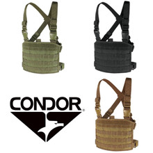 Condor MCR3 Tactical MOLLE Compact Modular Panel Pocket Chest Rig Vest- OD Green/ Black/ Coyote Brown