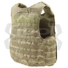 Condor QPC Molle Tactical Defender Plate Carrier Body Armor Vest Rig- Tan