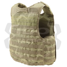 Condor QPC Molle Tactical Defender Plate Carrier Body Armor Vest Rig- Tan