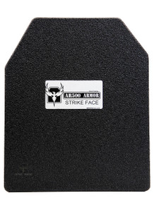 "AR500 Armor® Patented 10"" x 12"" Advanced Shooters Cut Level III Body Armor Plate"