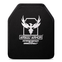 "AR500 Armor?? Level IV Body Armor Plate Shooters Cut (ASC) - Curved 10""x12"" (Monolithic Ceramic & Polyethylene)"