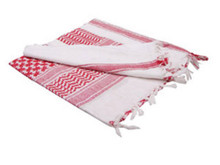 Condor 201-004 Shemagh 100% Cotton Scarf Head Wrap Bandana keffiyeh-  White / Red