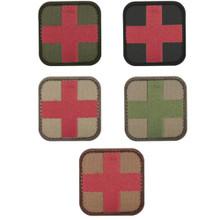 """CONDOR 231 Velcro Hook Backing Medic OPS EMS EMT Patch 2"""" x 2"""" - OD GREEN/ Black/ MultiCam/ Coyote Brown"""