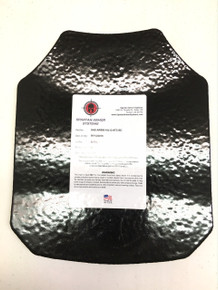 Spartan Armor Systems AR550 Omega 10x12 Level III+ Armor Plate - Shooters Cut / Base Coat