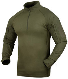 Condor 101065 Moisture Breathable Tactical 1/4 Zip Combat Shirt- OD Green/ Black/ Tan/ Navy Blue