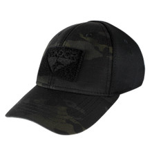 Condor 161080-021 Flex Tactical Cap Military Combat & Hunting Ball- MultiCam Black